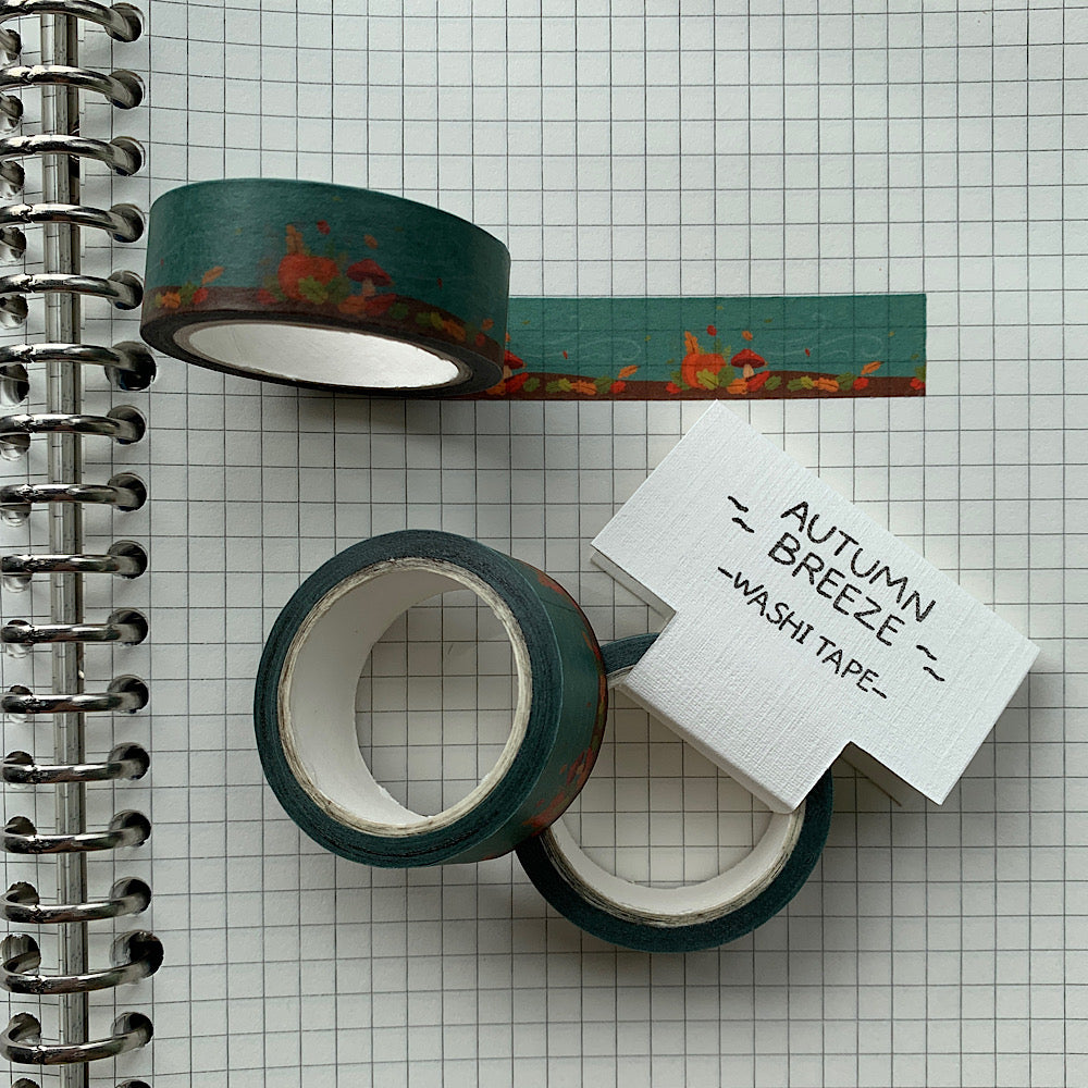 Autumn Breeze Washi Tape by Cassandra Tan
