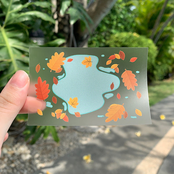Autumn Puddle Vinyl Sticker by Cassandra Tan