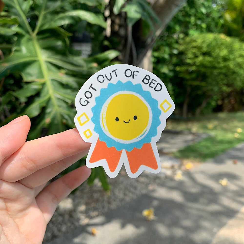 tiny achievements (!) - got out of bed, by Cassandra Tan