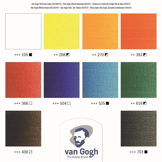 Van Gogh Oil Colour 10 colours 20ml tubes