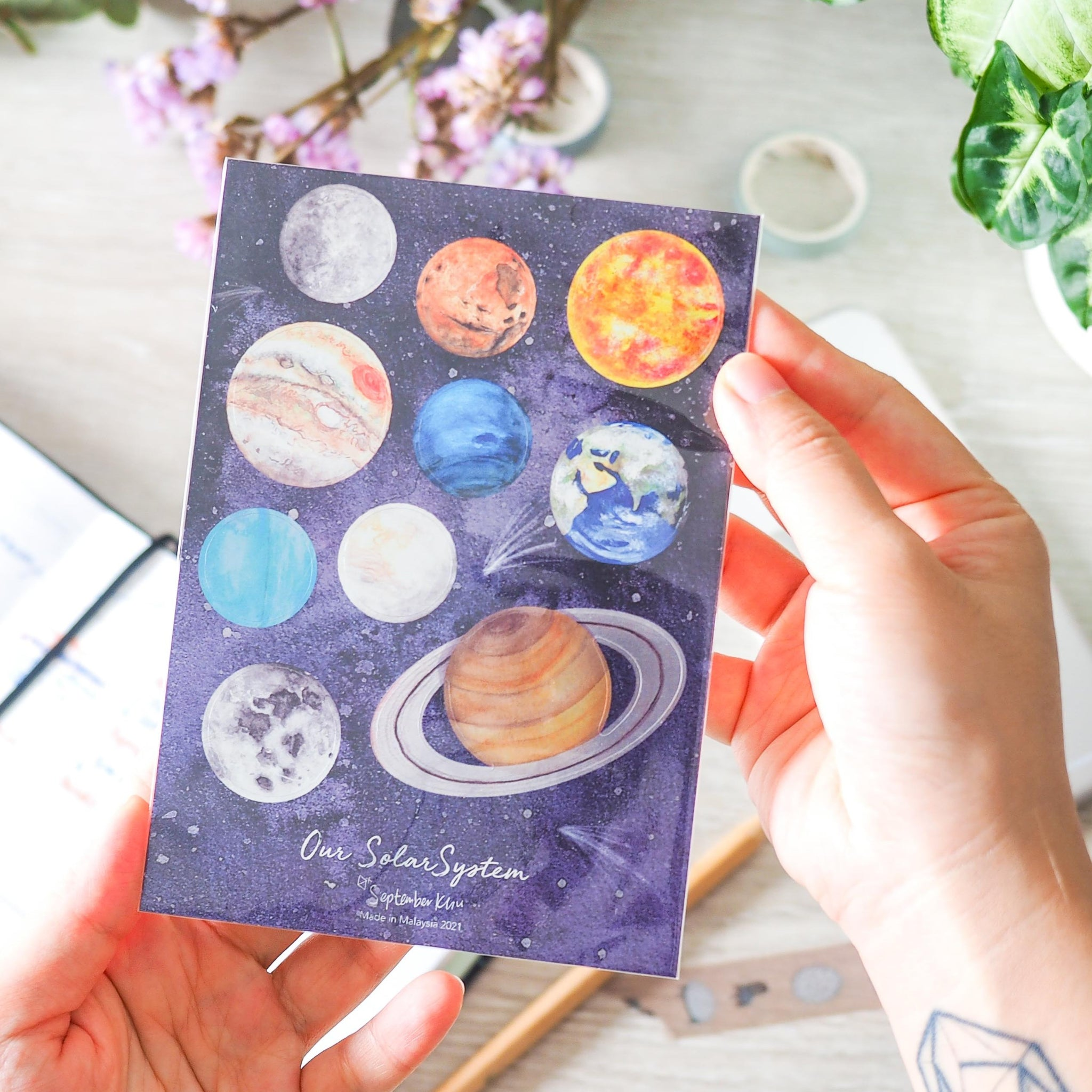 Solar System Metallic Stickers by September Khu
