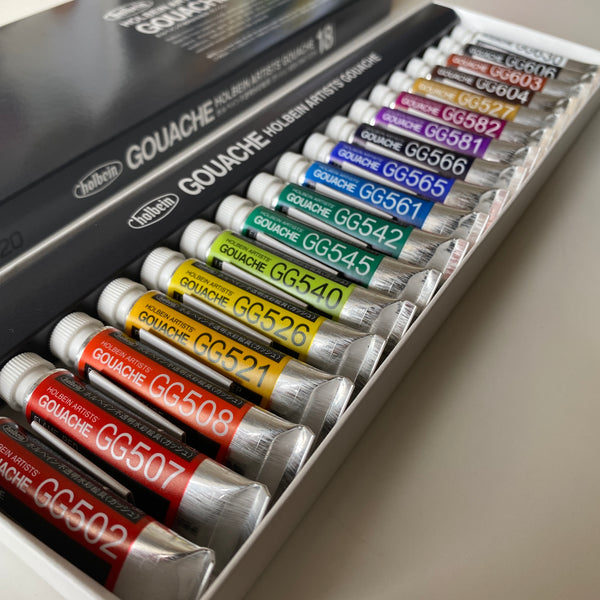Holbein Artists' Gouache 5ml tubes | 18 colours set