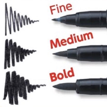 PIGMA Brush Pen - Set of 3 (Fine, Medium, Bold)