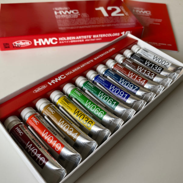 Holbein Artists' Watercolours 5ml tubes | 12 colours set