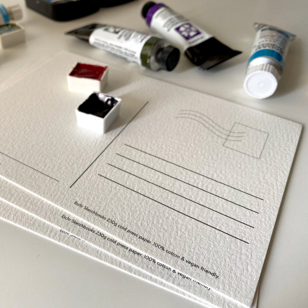 Etchr Watercolour Postcards - Hot Press