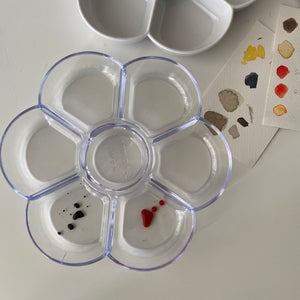 Watercolour palette, 7 well round