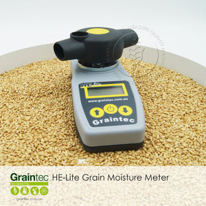 The Pfeuffer HE Lite Grain Moisture Meter. Now available at Graintec Scientific.