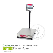 Load image into Gallery viewer, OHAUS Defender Series Platform Scale - Ideal for general weighing and simple counting applications in production, packaging, warehouse, inventory, shipping and receiving areas | graintec.com.au