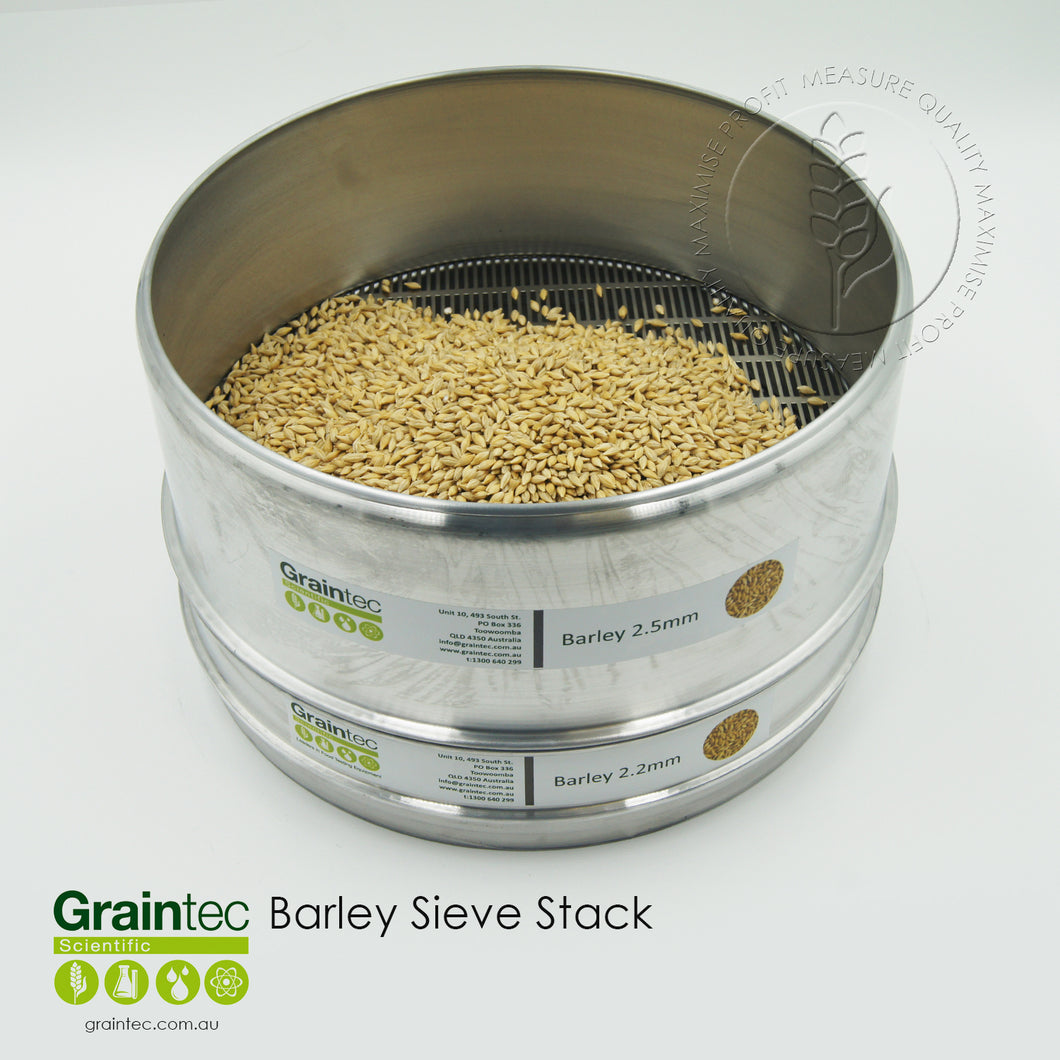 Barley Sieve Stack - Available at GRAINTEC SCIENTIFIC (Australia)