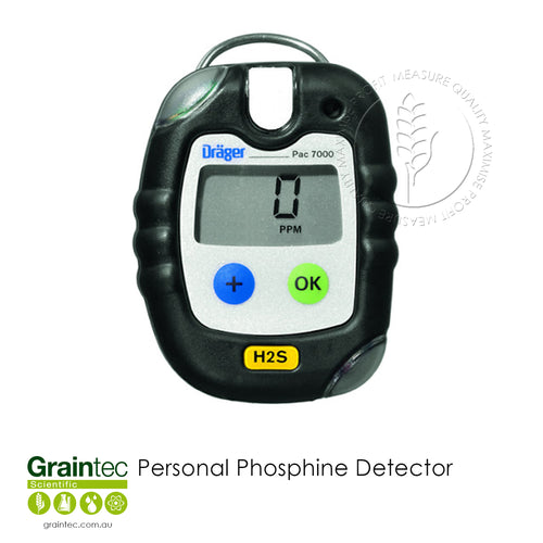 Dräger Pac 7000 Personal Phosphine Detector - Available at GRAINTEC SCIENTIFIC (Australia)