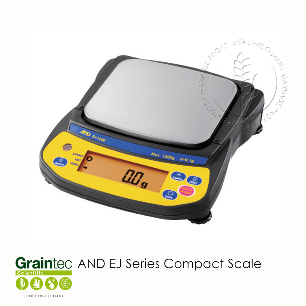 AND EJ Series Compact Scale - Available at GRAINTEC SCIENTIFIC (Australia)