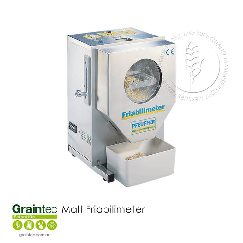 GRAINTEC SCIENTIFIC Malt Friabilimeter: Quick and easy evaluation of the brewing value of malt for breweries and malthouses