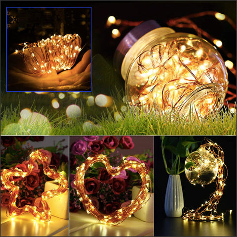 Starzz™ LED Fairy String Lights Battery Powered with Remote Control