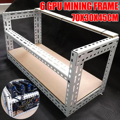 CaseX Computer Case GPU Crypto Mining Rigs Best Airflow PC Tower Frame