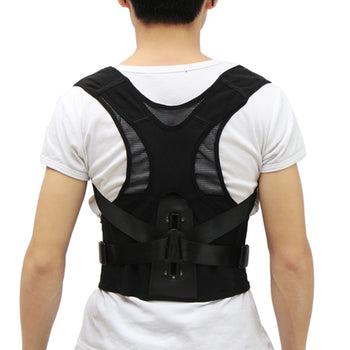 Breathable Adjustable Body Back Posture Support Corrector Lumbar Shoulder Brace Belt