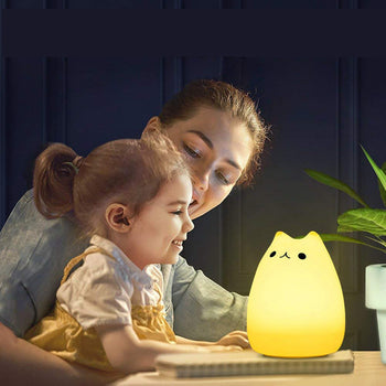 Cute LED Night Light Kitty Lamp