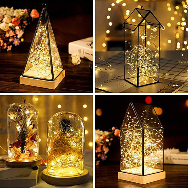 LED Fairy String Lights For Christmas Patio Bedroom Outdoor Battery Operated