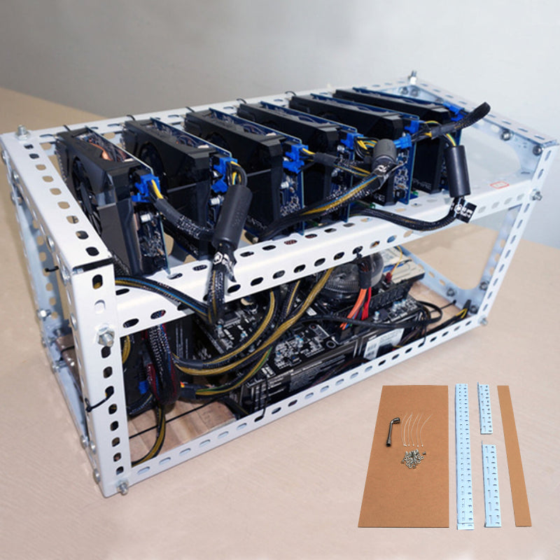 CaseX™ Computer Case GPU Crypto Mining Rigs Best Airflow PC Tower Frame
