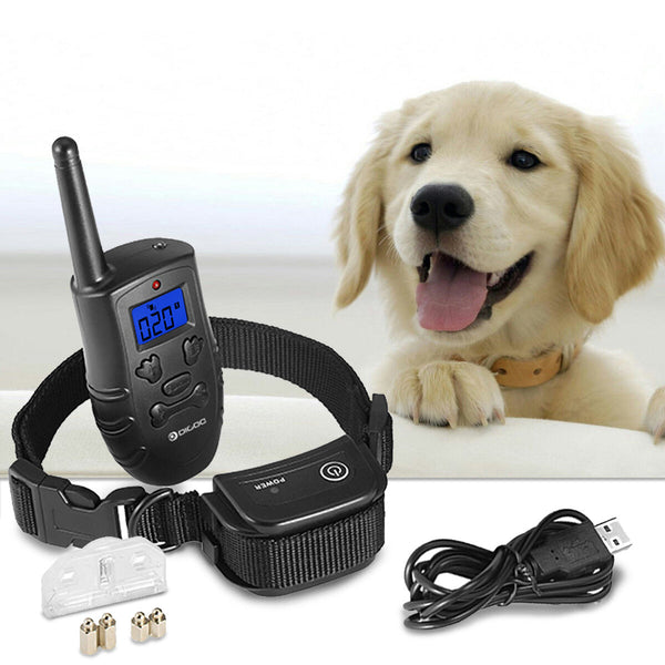Dog Training Collar Rechargeable Shock Collar w/3 Training Modes, Vibration, Shock and Beep Sound, Waterproof