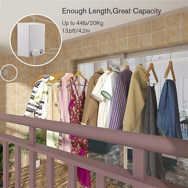 Retractable Clothesline Dryer Indoor Outdoor Laundry Home Accessories