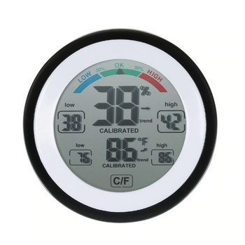 Digital Hygrometer & Indoor Thermometer Humidity Gauge Max Min Value Trend Display ℃/℉ Touch Screen