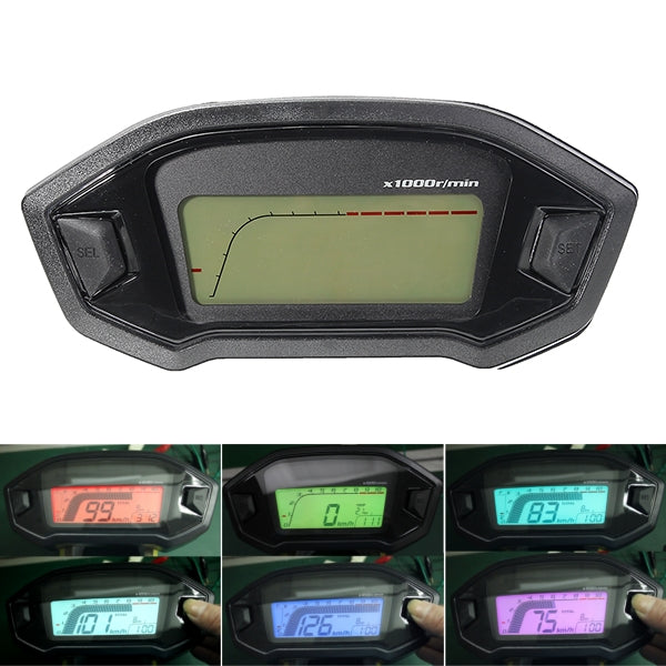 Speedometer Motorcycle Odometer Digital Reader Backlight