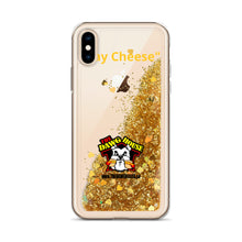 "Load image into Gallery viewer, Dawg House ""Say Cheese"" Gold Glitter Phone Case"