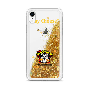 "Dawg House ""Say Cheese"" Gold Glitter Phone Case"