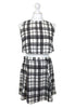 White Check Print Top & Skirt Two Piece Co-ord