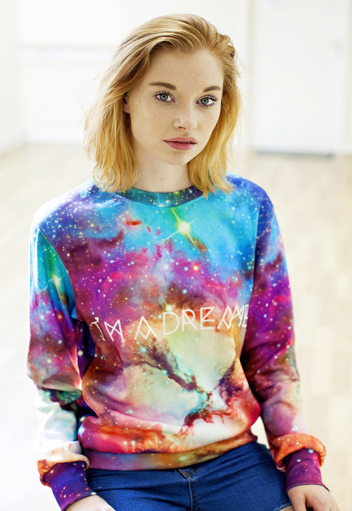 Starry Sky Galaxy Print Sweater