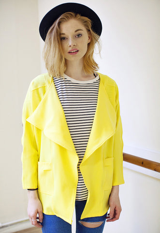 Yellow Drape Jacket