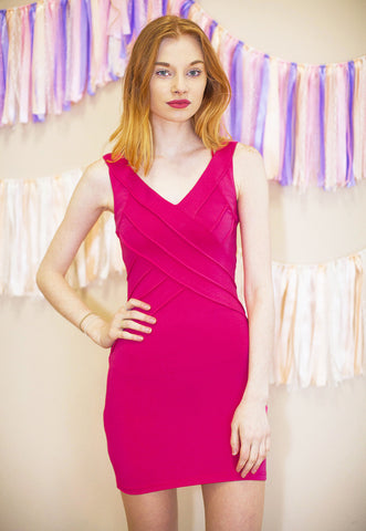 Bodycon Dress - Hot Pink