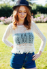 Crochet Top With Fringe Detail