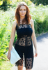Slip Dress In Black Lace