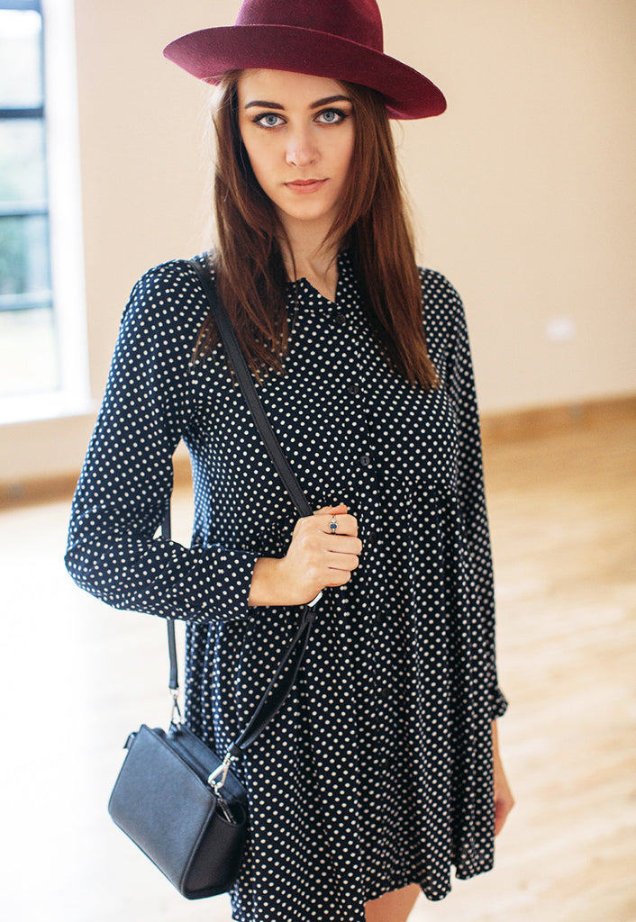 Shirt Dress In Polka Dot Print