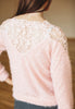 Mohair Jumper With Lace Insert (Pink)