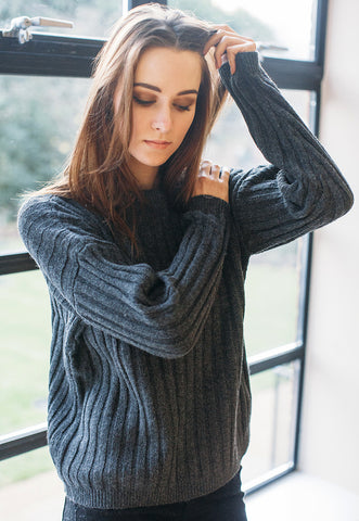 Jumper With Chunky Rib Knit