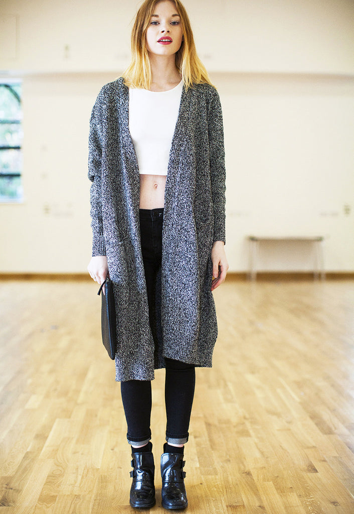 Longline Knit Long Sleeve Cardigan