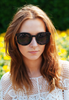 Oversized Lace Cut-away Sunglasses