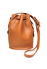 Brown Faux Leather Duffle Bag