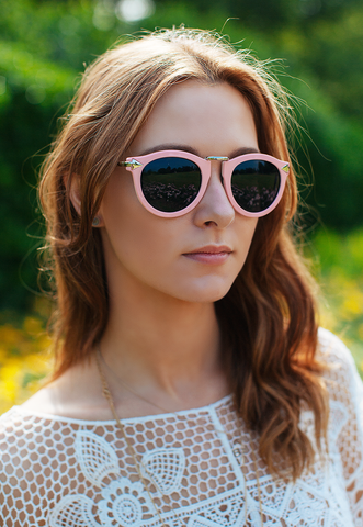 Pink Retro Inspired Oversized Sunglasses