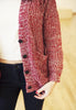Red Chunky Knit Cardigan
