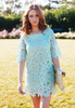 Shift Dress In Lace Cutwork (Mint Green)