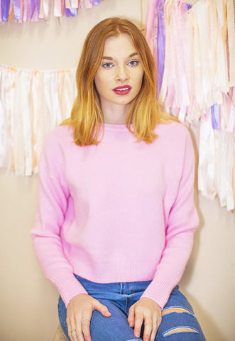 Super Soft Pastel Colour Jumper - Hot Pink