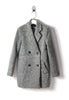 Light Grey Woolen Double Breasted Coat