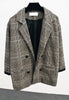 Check Double Breast woolen Boyfriend Blazer