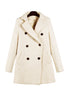Cream Woolen Double Breasted Pea Coat