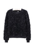 Fluffy 3D Rose Jumper (Black)