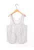 Crochet Lace Top Vest With Beaded Detail