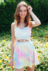 Tie Dye Cut Out Skate Dress
